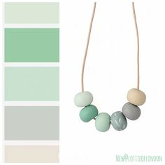 Perfect for Spring our latest addition to our long statement necklace collection is handmade in muted green hues