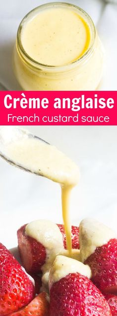 Crème anglaise: a French custard often served as a dessert sauce for cakes and pastries. Recipe via MonPetitFour.com