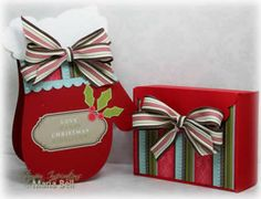 Mitten Card and Gift Box (LOVE THE WINTER FACES EASEL CARDS ON THIS PAGE GOTTA GET THIS!)