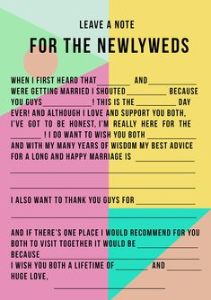 FREW printable ad lib | Mad lib wedding game for couples | Guests entertainment | Games &a Quizzes |