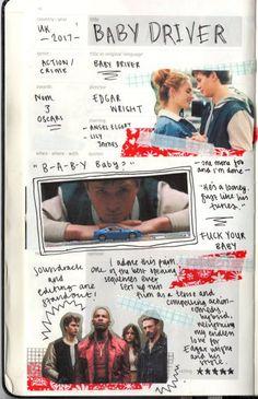 Music Journal, Bullet Journal Books, Scrapbook Journal, Bullet Journal Ideas Pages, Journal Layout, Journal Pages, Movie Bullet, Critique Film, Movie Collage