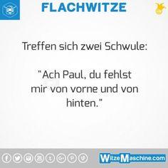 Flachwitze #314 - Schwulenwitze - Schwule Sprüche