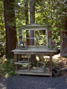 June 18, 2014, 4:00 pm Creative Potting Shed Tables  http://idealshedplans.com/raised-garden-beds/garden-design-ideas/