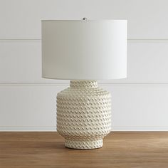 Master: Love the texture that these bring! Great chunky scale. Ziggy Table Lamp | Crate and Barrel