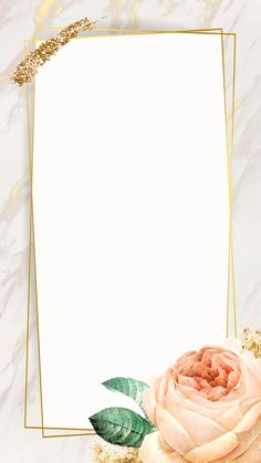 Floral rectangle golden frame vector | premium image by rawpixel.com / nunny Floral Wallpaper Iphone, Flower Background Wallpaper, Framed Wallpaper, Glitter Background, Flower Backgrounds, Rose Frame, Flower Frame, Powerpoint Background Design, Boarders And Frames