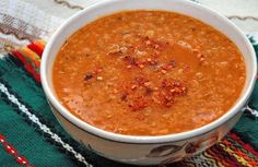 If you carefully watch your weight or are struggling with excess weight, I offer you a very tasty, nutritious and little calories lentil soup for weig. Russian Recipes, Lentil Soup, Tomato Paste, Drying Herbs, Stuffed Hot Peppers, The Dish, Lentils, Food Inspiration, Tasty