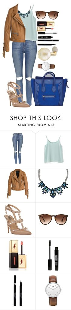 """""""Untitled #1360"""" by fabianarveloc on Polyvore featuring Topshop, Chicnova Fashion, Barbara Bui, Mixit, CÉLINE, Valentino, Ray-Ban, Yves Saint Laurent, Lord & Berry and Sisley"""