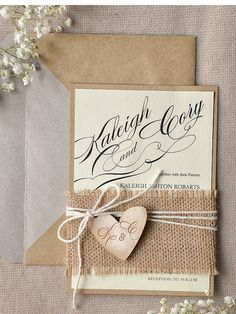 Rustic Wedding Invitations (20), Wedding Invitation Suite, Burlap Wedding Invites, Engraved wood Invitation, Wedding Wooden Invitation