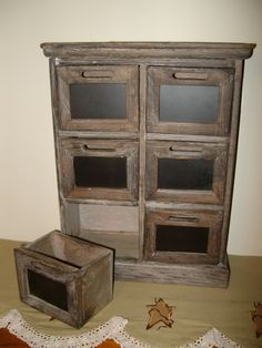country crafts to make | Primitive Country Shabby Old Barnwood Vintage Spice Drawer Chalkboard ...
