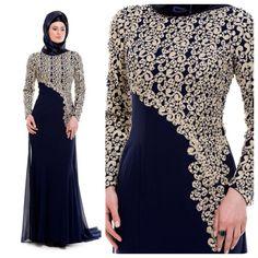 Islamic Fashion, Muslim Fashion, Modest Fashion, Fashion Dresses, Hijab Evening Dress, Hijab Dress, Evening Dresses, Abaya Designs, Muslim Dress