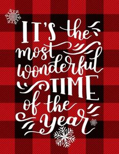 Most Wonderful Time of the Year Free Printable is part of Plaid Christmas decor - Its the Most Wonderful Time of the Year A Free Printable perfect for adding a little buffalo plaid and Christmas Cheer to your Holiday Decor! Plaid Christmas, Country Christmas, Winter Christmas, Christmas Home, Christmas Crafts, Christmas Ideas, Christmas Images Free, Christmas Vignette, Christmas Wreaths
