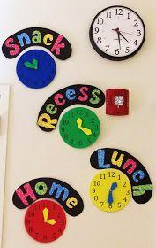 Clutter-Free Classroom: Clock Schedule Display {INSPIRED}
