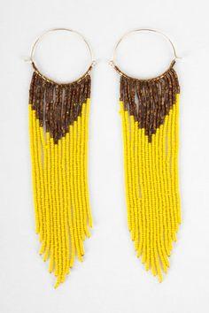 Beaded Brazil Earrings at www.tobi.com