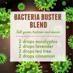 Self care/This bacteria buster essential oil blend will fight germs, bacteria and viruses in the home and office.
