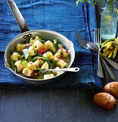 Gnocchi with spring vegetables, lemon and chilli – Delight Potatoes
