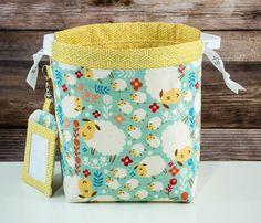 Sheep Sock Knitting Bag Knitting Project Bag by 19stitches on Etsy