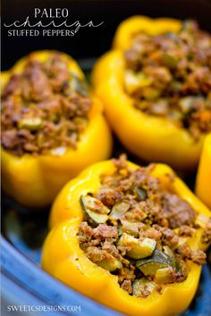 Paleo Chicken Chorizo Stuffed Peppers