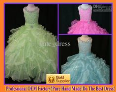 Wholesale 2013Lovely Boatneck A Line Bubble Beads Crystal Zipper Girl Pageant Dress Flower Girl Dress, Free shipping, $137.76-149.99/Piece | DHgate