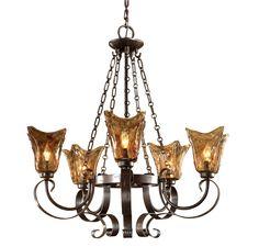 Uttermost Vetraio 5-Light Chandelier in Ceiling Lights, Chandeliers, Indoor Chandeliers: ProgressiveLighting.com