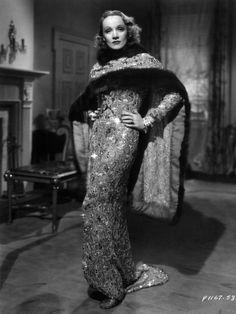 Marlene Dietrich in a Travis Banton designed costume