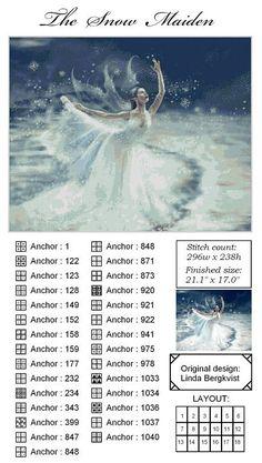The Snow Maiden - 2/18 Solo Patrones Punto Cruz | Aprender manualidades es facilisimo.com