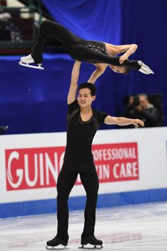 Tae Ok Ryom and Ju Sik Kim of North Korea compete in the pairs free skating during day three of the Four Continents Figure Skating Championships at...