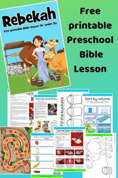 Isaac and Rebekah preschool Bible lesson. Learn about choice and doing good. - Isaac and Rebekah preschool Bible lesson. Learn about choice and doing good. Toddler Bible Lessons, Preschool Bible Lessons, Bible Stories For Kids, Bible Crafts For Kids, Isaak, Sunday School Lessons, Children's Bible, Free Bible, Kids Church