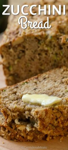 Zucchini Bread is a moist and delicious quick bread that makes the perfect afternoon snack for your family! centslessmeals zucchinibread quickbread gratedzucchini zucchini easyrecipe easysnack is part of Zucchini bread recipes - Easy Bread Recipes, Healthy Recipes, Gourmet Recipes, Cooking Recipes, Healthy Breads, Yummy Recipes, Köstliche Desserts, Delicious Desserts, Dessert Recipes