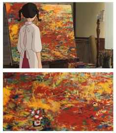 The painting. -- Studio Ghibli movies, Japanese films, moments, scenes, From Up on Poppy Hill