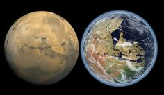 This Is What Mars Looked Like With Water And How It Reminds Us of Another Blue Marble