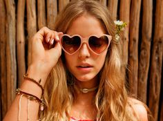 These heart-shaped sunglasses are perfect for those laidback summer days.