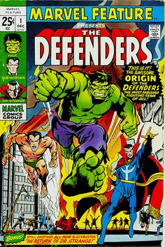 Neal Adams Marvel Feature 1 1972 cover, featuring the first appearance of the Defenders by giantsizegeek, via Flickr