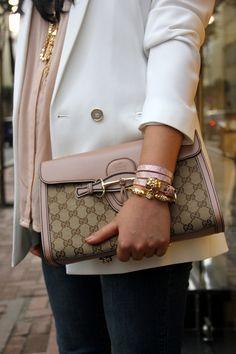 Blazer with Gucci clutch Gucci Handbags 80124be92010d