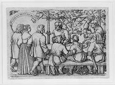 Sebald Beham (German, 1500–1550). Peasants' Feast from The Peasants' Feast or the Twelve Months, 1546-1547. The Metropolitan Museum of Art, New York. Gift of J. Rockman, 1942 (42.109)