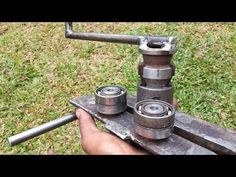 Grinder Hacks & DIY IDEAS — by 'SL Sanda'. Metal Bending Tools, Metal Working Tools, Metal Tools, Homemade Tools, Diy Tools, Ring Roller, Balcony Grill Design, Metal Bender, Straw Bale Gardening