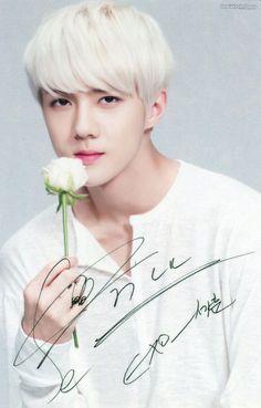 세 훙 Sehun Nature Republic 131130 Suho Exo, Exo K, Exo Nature Republic, Exo News, Exo Stickers, Exo Official, Hunhan, Exo Members, Photo Cards