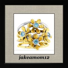 Two tone blue topaz ring So cute two tone blue topaz ring set in Sterling silver Jewelry Rings