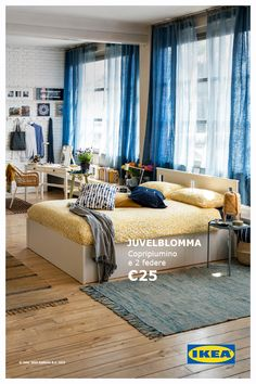 Bring the summer into your bedroom. – Howe To Make Make-Up Design Interior Design Living Room, Living Room Decor, Bedroom Decor, Interior Design Studio, Dream Bedroom, House Design, House Styles, Nordic Bedroom, Home Decor
