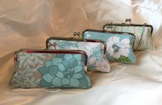 SET of 4 Ready to ship bridesmaid clutches by franklymydearvintage
