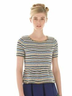 Cove - Knit this womens stripe top from Rowan Knitting & Crochet Magazine 55, a design by Grace Melville using the luxurious yarns Softknit Cotton ...