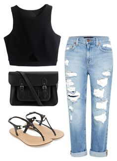 """""""Untitled"""" by kikilovessoccer on Polyvore featuring The Cambridge Satchel Company, Genetic Denim and Accessorize"""