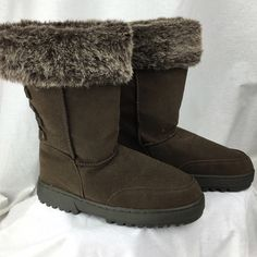 Faux Fur Brown Suede Boots Flat Size 6 Rampage New no box - unboxed. Shoes by Rampage. Size 6. I ship same day or next 📦 📦 🚫🚫NO TRADES🚫🚫 Love to bundle - discount with bundle only 🎀🎀 Rampage Shoes Ankle Boots & Booties