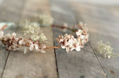 Rustic woodland bridal crown floral circlet by gardensofwhimsy