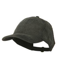 c57ec5aa70b33 Ladies Washed Cotton Ponytail Cap Black C311M6K9C3P
