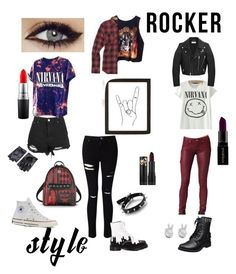 """""""Untitled #18"""" by blmm122401 ❤ liked on Polyvore featuring Miss Selfridge, Boohoo, Burton, MAC Cosmetics, Paige Denim, Yves Saint Laurent, Converse, Dr. Martens, Smashbox and Urban Outfitters"""