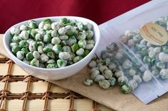 Wasabi peas are a favorite afternoon snack in our house