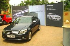 Portable Outdoor Activation for Mercedes Benz. Want to promote your brand through Exhibition and Trade show? Contact us http://www.insta-group.com/contactus/index.aspx
