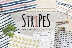 Stripes & Lines Hand-Drawn Pattern by Paperon Design on @creativemarket