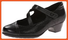 Aravon Women's Portia Black Multi 11 WW (EE) - Flats for women (*Amazon Partner-Link)