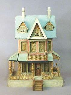 Bliss Dollhouse Liveauctioneers. Nice house, good style, shape and detail. .....Rick Maccione-Dollhouse Builder www.dollhousemansions.com